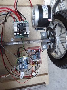 Picture of The Complete Setup Mobile Robot, Stepper Motor, Electronic Devices, Go Karts, Electronics Projects, Diy Electronics, Diy Go Kart, Motor Eléctrico, Raspberry Pi Projects