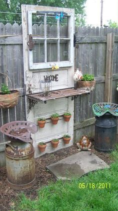 Construct a Potting Bench from an Old Door The Best 35 No-Money Ideas To Repurpose Old Doors