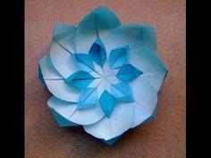 How to make a Paper Flower Origami / Как сделать Цветок из бумаги Оригами - YouTube