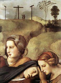 Raphael (Raffaello Sanzio da Urbino) ~ The Entombment (detail), 1507