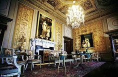 Houghton House Interiors   White Drawing Room at Houghton. Lord Cholmondeley inherited Houghton ...