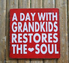 Grandparents Sign Grandma Grandpa Gift Hand Painted Rustic Wood Sign Grandchildren Quote Inspirational Nana Papa Kids Wall Art Wooden Plaque