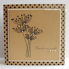 handmcard card from Katina's Cards and Chat ... kraft ... square format ... like it!!