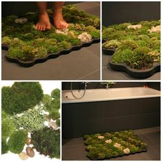 The Perfect DIY Amazing Moss Shower Mat - http://theperfectdiy.com/the-perfect-diy-amazing-moss-shower-mat/ #DIY, #HomeIdeaGardening