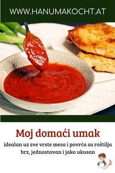Meine Grillsauce/ Moj domaći umak za meso i povrće sa roštilja Dips, Thai Red Curry, Food Blogs, Ethnic Recipes, German, Easy, Marmalade, Meat, Homemade