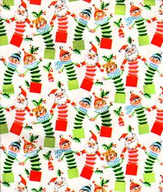 Vintage Kaycrest CHRISTMAS Gift Wrap by MidCenturyAddiction ...
