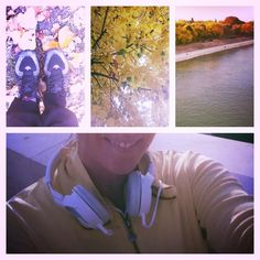 colourful running in Budapest