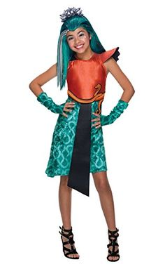 A Nefera de Nile Monster High costume for a girl for Halloween and Carnival Parties! Little Girl Costumes, Kids Costumes Girls, Tween Costumes, Trajes Monster High, Fantasia Monster High, Monster High Halloween, Fancy Dress, Dress Up, Full Body Costumes