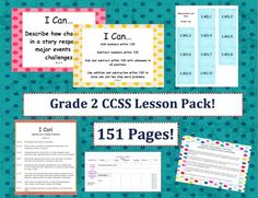 Grade 2 Common Core Standards Pack!