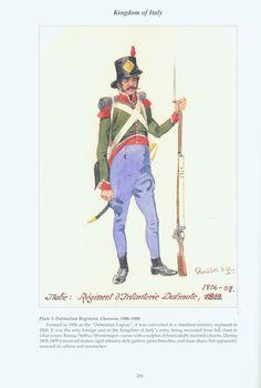 Kingdom of Italy: Plate 5: Dalmiatian Regiment, Chasseur, 1806-1808