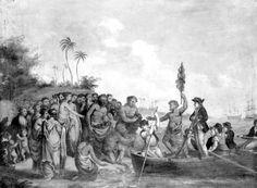 La expedición de Cook, intercambiando objetos por víveres. James Cook, Australia, Painting, Art, Objects, Art Background, Painting Art, Kunst, Paintings