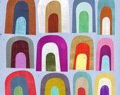 Kaleidoscope Geometric Art Print. $23.00, via Etsy.