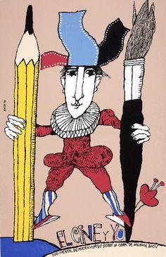 Cuban poster by Eduardo Muñoz Bachs, 1995, El cine y yo.