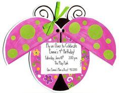 cute ladybug invite