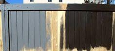 black wood fence - Google Search