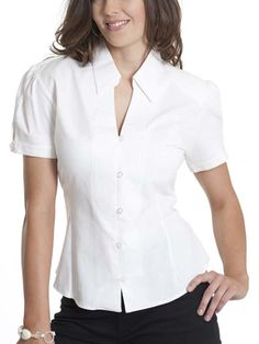 Tunic Blouse, Shirt Blouses, Shirts, Revamp Clothes, Blouse Desings, Office Blouse, Western Outfits, Chef Jackets, Clothes For Women