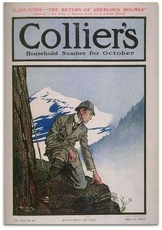 Sherlock Holmes beautiful Illustration by Frederick Dorr Steele