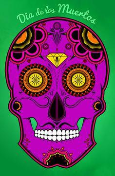 dia de los muertos (sugar skull) by Chubbybuddhist