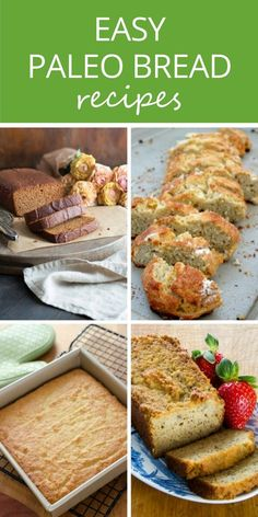 Easy paleo bread recipes for slicing, toasting or sandwiches. From banana bread to French bread -  all gluten-free, grain-free and healthy!  via @cookeatpaleo