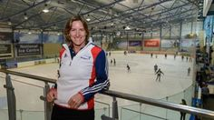 UK Sport Chair Katherine Grainger visits the GB Short Track skating base