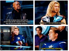 He's so cute.   This is how I feel sometimes in clinical or class. Both Thor and Capt America apply depending on the day.