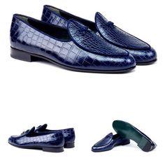"Park en Madison's made to order ""Belgian Loafers"" Blue Loafers, Penny Loafers, Blue Shoes, Loafers Men, Men's Shoes, Shoe Boots, Tassel Loafers, Shoes Men, Mens Fashion Shoes"