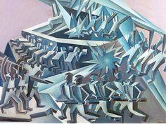 """Fortunato DEPERO: """"Ingranaggi di Guerra"""", 1923-1926."""
