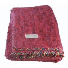 100% Alpaca Full Blanket in Berry