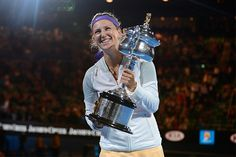 Na's Misfortune Hands Vika the Win.....Belarussian Victoria Azarenka holds her 2nd Aussie Open Trophy...Remains World #1 by defending her title v Li Na of China.