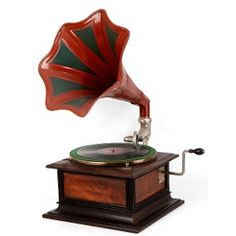 Resultado de imagem para gramofone a manivela