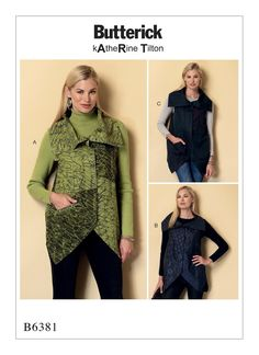 Butterick 6381 and 6357 Versatile Vests or Tops