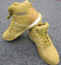 b07e2a5f728 MEN S LIGHTWEIGHT LEATHER STEEL TOE CAP SAFETY WORK TRAINERS SHOES BOOTS   MAXSTEEL  WorkBootsTrainers