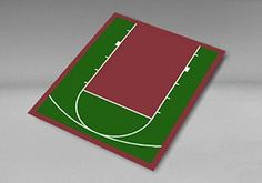 "VersaCourt H-1 Small Basketball Court Surfacing - 20'7"" x 24'10"""