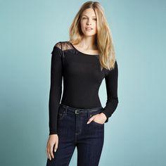 JESSICA®/MD Women's Lace-Shoulder Top