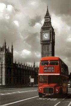London - Red Bus Poster Print  24x36 Collections Poster Print  24x36: http://www.amazon.com/London-Poster-Print-24x36-Collections/dp/B001QVTXJQ/?tag=livestcom-20