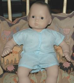 Doll clothes romper free pattern and tutorial