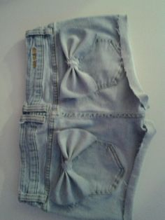 cute jean shorts... have to do this on jeans