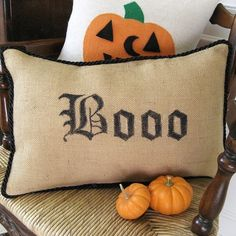 "pottery barn copycat projects | No-Sew Pottery Barn Inspired ""Boo"" Pillow :: Hometalk"