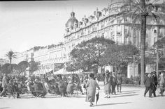 H037. Hotel Ruhl, Nice 1920s Street Image, Street View, La Promenade Des Anglais, Us Images, Nice, 1920s, Nice France