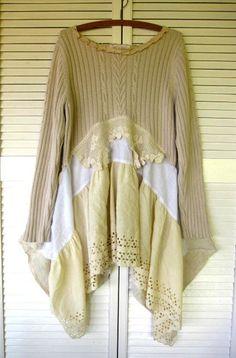 LargeXLarge plus upcycled clothing Romantic by lillienoradrygoods