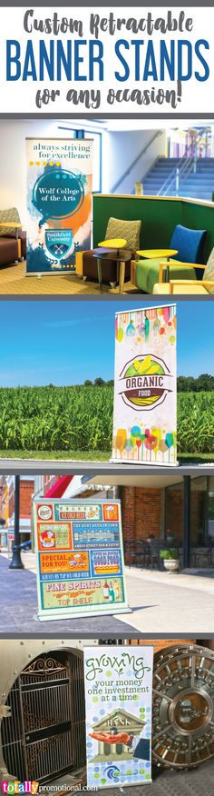 Customize our retractable banner stands with your logo or graphics, ideal for…