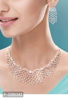 American Diamond Fancy Choker Necklace For Woman And Girl Jewelry Design Earrings, Necklace Designs, Diamond Necklace Set, Diamond Jewelry, American Diamond Jewellery, Fancy Jewellery, Simple Necklace, Glamour, Bridal Jewelry