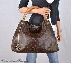 6a67d84eefbcd Louis Vuitton Artsy Mm Monogram Leather Shoulder Bag Satchel Purse Handbag  Hobo