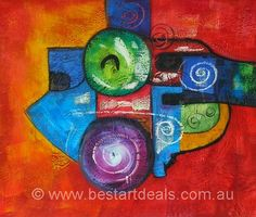 Original Hand-painted Abstract colors paintings by bestartdeals.com.au $74.25