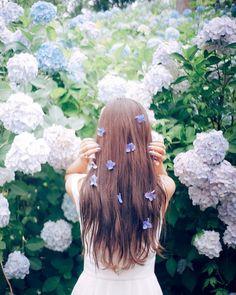 sherry*さんはInstagramを利用しています:「. . 写真をはじめて思うことは 季節や光を 人より敏感に感じるようになったということ . . . . コメント頂きましたがお花を千切ったりはしていません! 前日の雨で落ちていた花びらのうち、 綺麗なものをなるべく選んでつけてもらいました(*´◡`*)*…」 Kawaii Hairstyles, Pretty Hairstyles, Summer Instagram Pictures, Pretty Korean Girls, Princess Aesthetic, Lilac Wedding, Cute Wallpaper Backgrounds, Wallpapers, Digital Art Girl