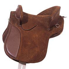 "Silla potrera de cuero doble de ante   ""Potrera"" suede leather saddle  Ref. 0481139   http://marjoman.es/images/stories/virtuemart/product/silla%20potrera%20cuero%20doble%20ante%2004811392.jpg"