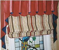 Image of a finished roman blind