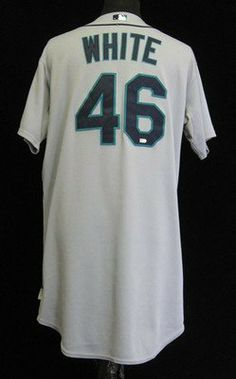 2009 Seattle Mariners Sean White  46 Game Issued Grey Road Jersey - Game  Used MLB Jerseys by Sports Memorabilia.  156.13. 2009 Seattle Mariners Sean  White ... 2944221b5