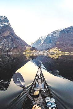 "lmmortalgod: "" Undredal in Nærøyfjorden, Norway """