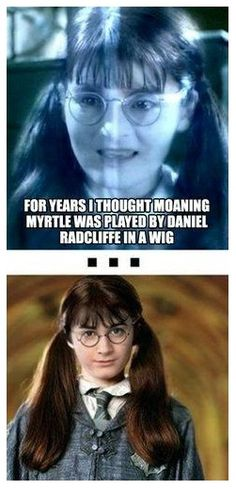 """To be fair, Daniel Radcliffe does make a cute """"Moaning Myrtle""""!"""